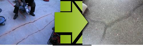 Spricklagning betonggolv