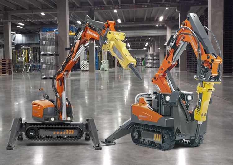 Stora maskiner gör jobbet enklare.