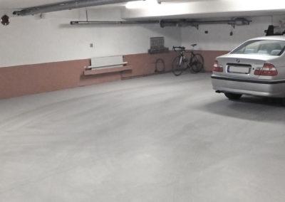 Garagegolv med industrispackel